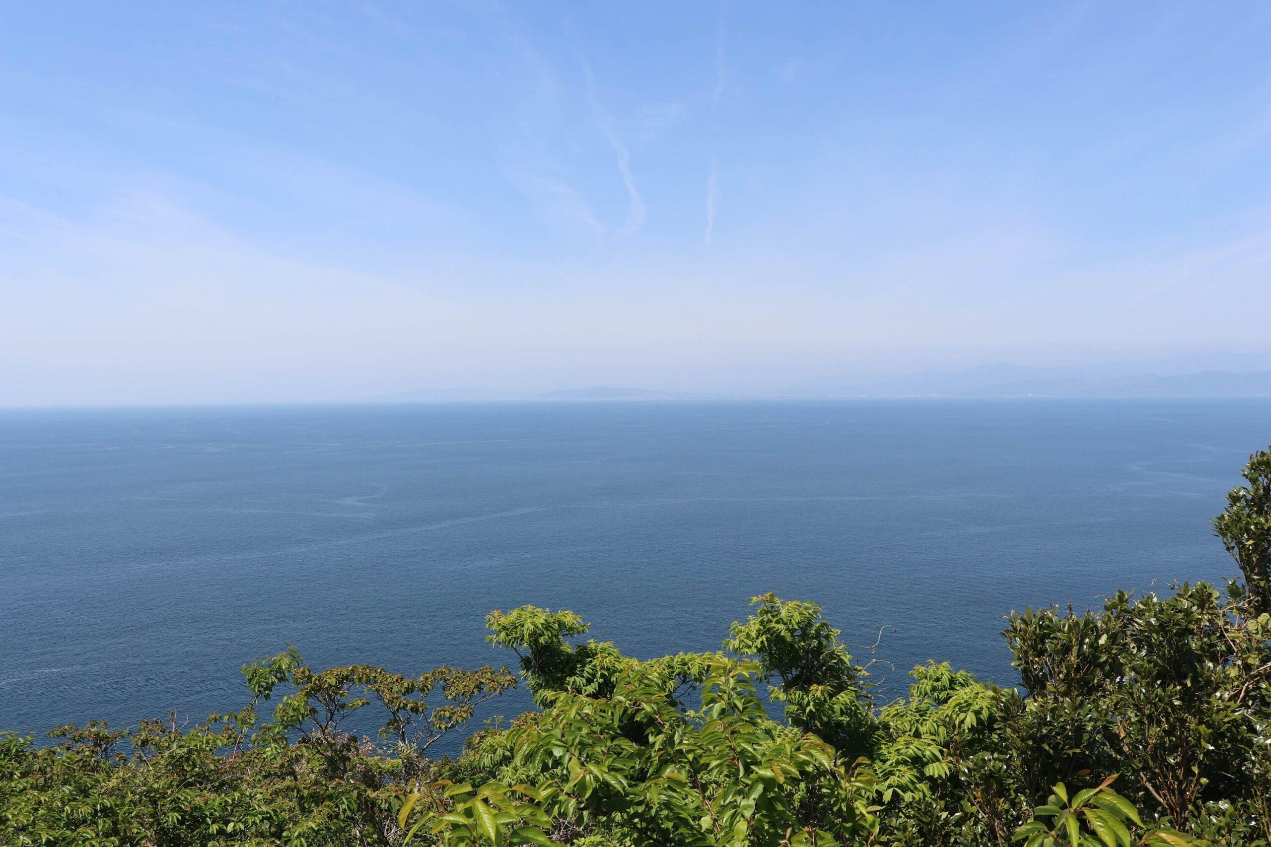 戸田の出会岬から見る駿河湾