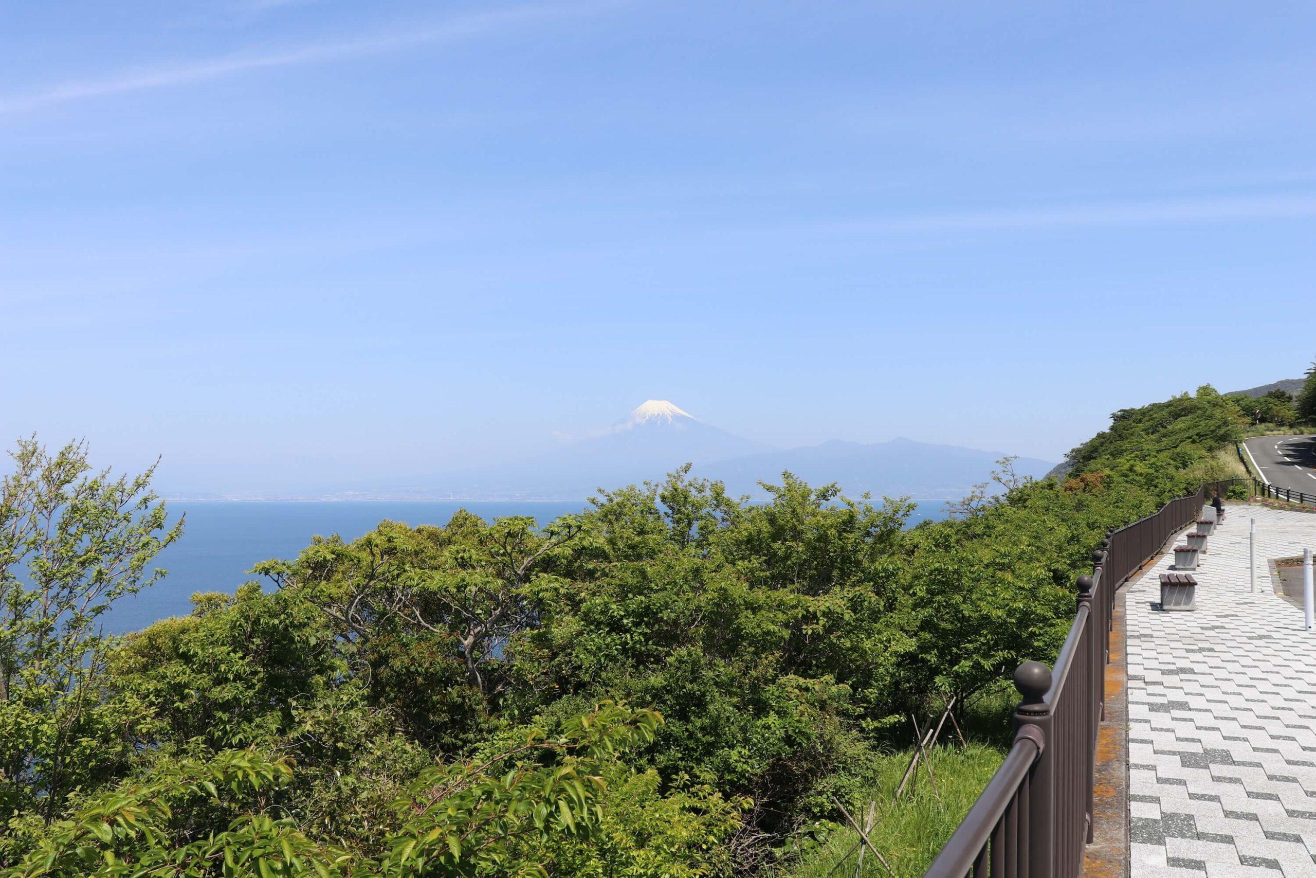 戸田の出会岬から見る富士山