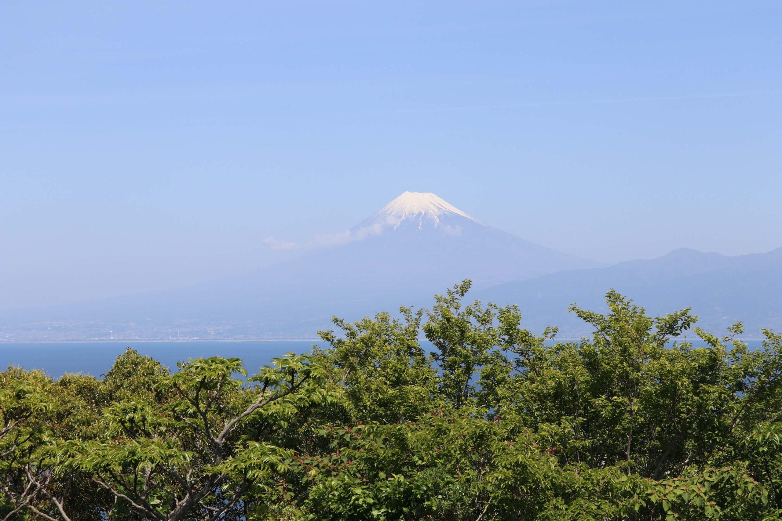 戸田の出会岬と富士山