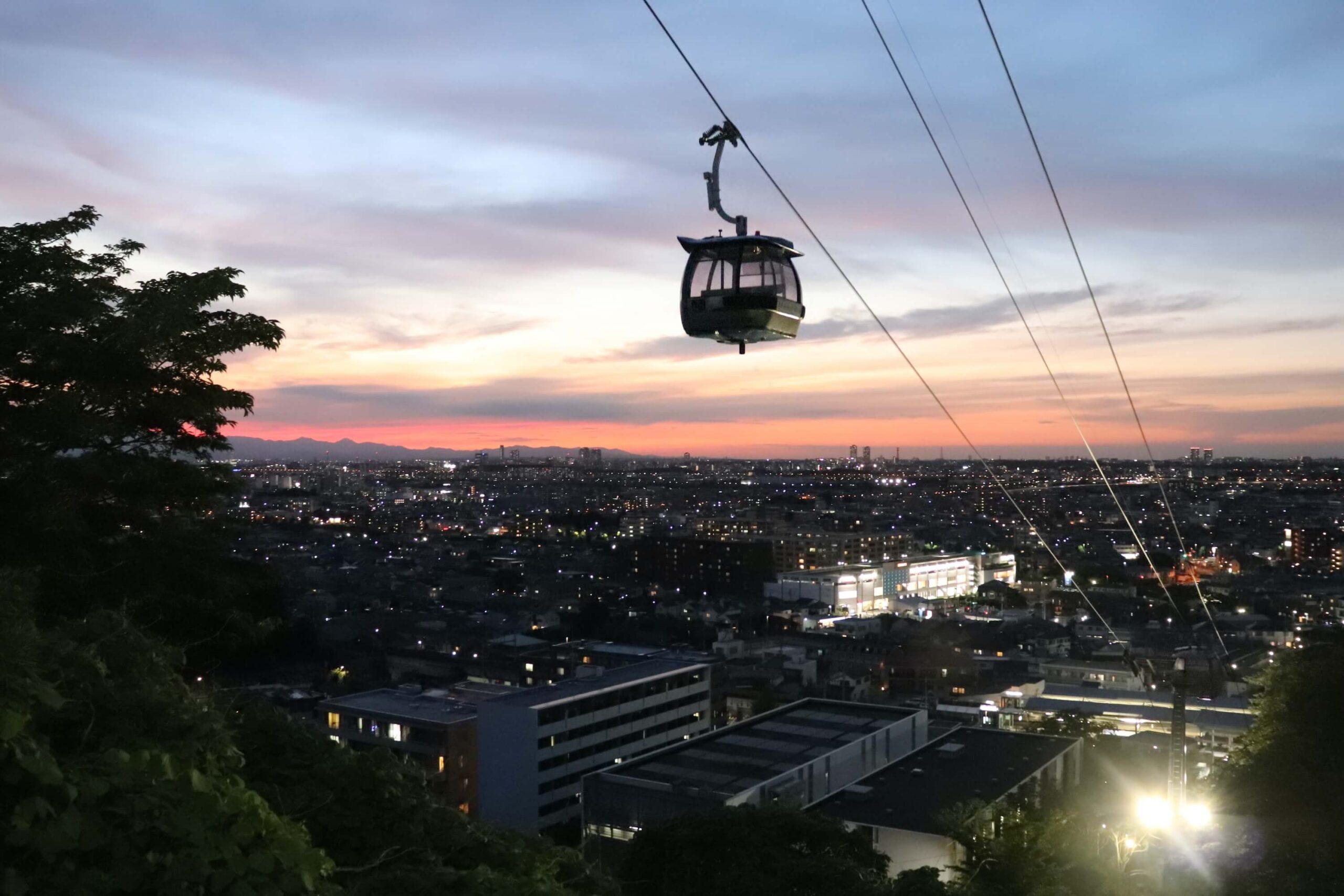 東京よみうりランドの夜景